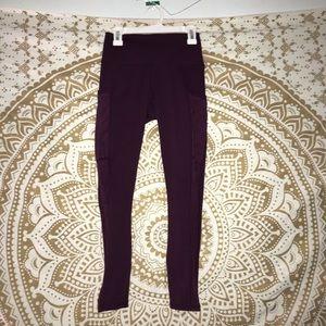 plum colored leggings